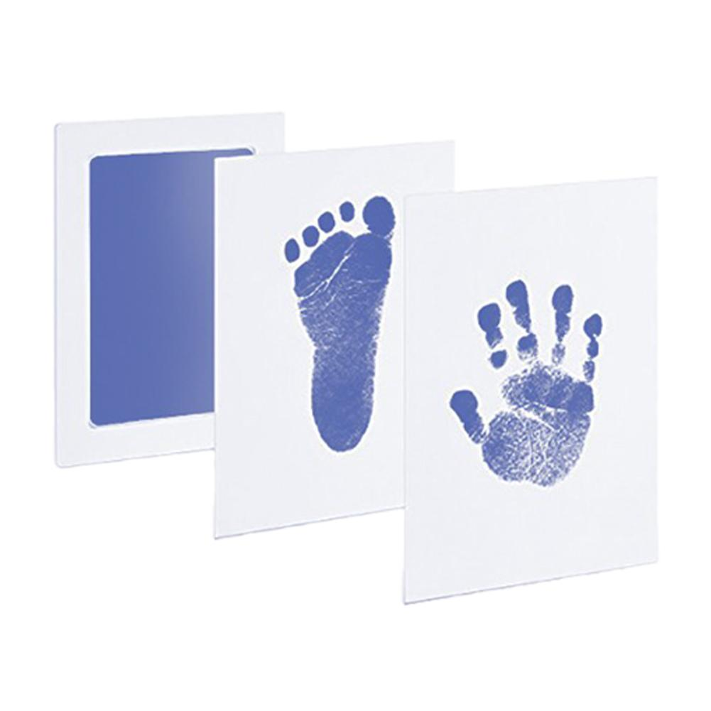 Baby Footprint And Handprint Stamp-Pad Ink Anti-Counterfeiting Hand And Foot Printing Pad Non-Stick Ink Baby Souvenir