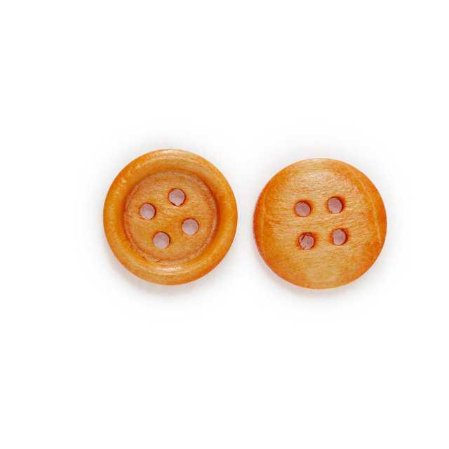 4 Holes Wood Buttons For Sewing Scrapbooks Clothing Crafts Gift Jacket 30//50Pcs