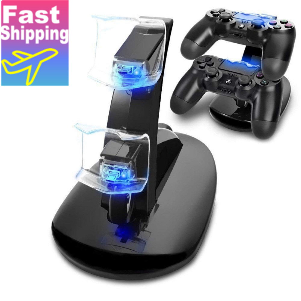 Controller Charger Dock LED Dual USB PS4 Charging Stand Station Cradle For Sony Playstation 4 PS4 / PS4 Pro /PS4 Slim Controller
