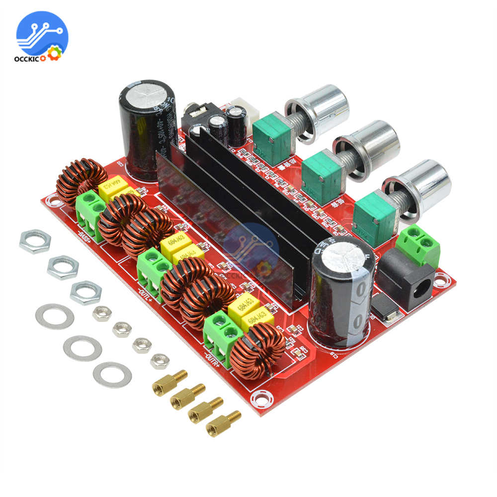 DC 12V-24V TPA3116D2 50Wx2 + 100W 2.1 3 Channels Digital Subwoofer Amplifier Board Module Power Audio Amplifier For Speakers