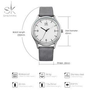Image 2 - Shengke العلامة التجارية جلد النساء الساعات موضة السيدات ساعات كوارتز خمر المرأة عادية المرأة المعصم