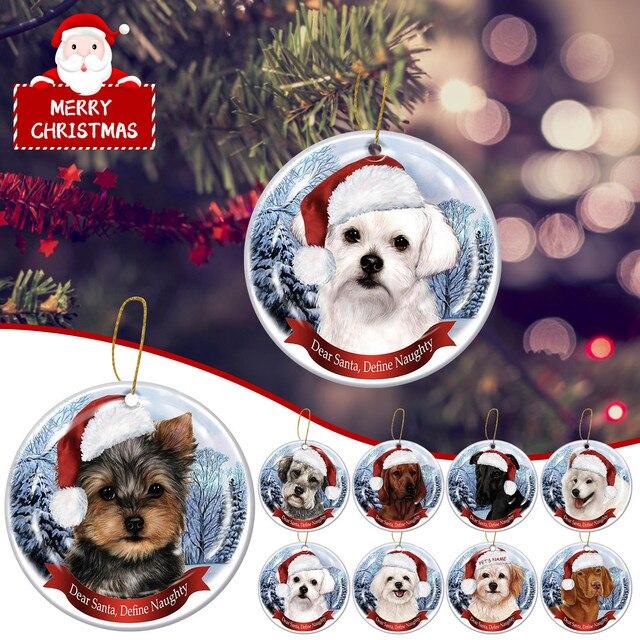 Dog Tree Pendants Merry Christmas  2
