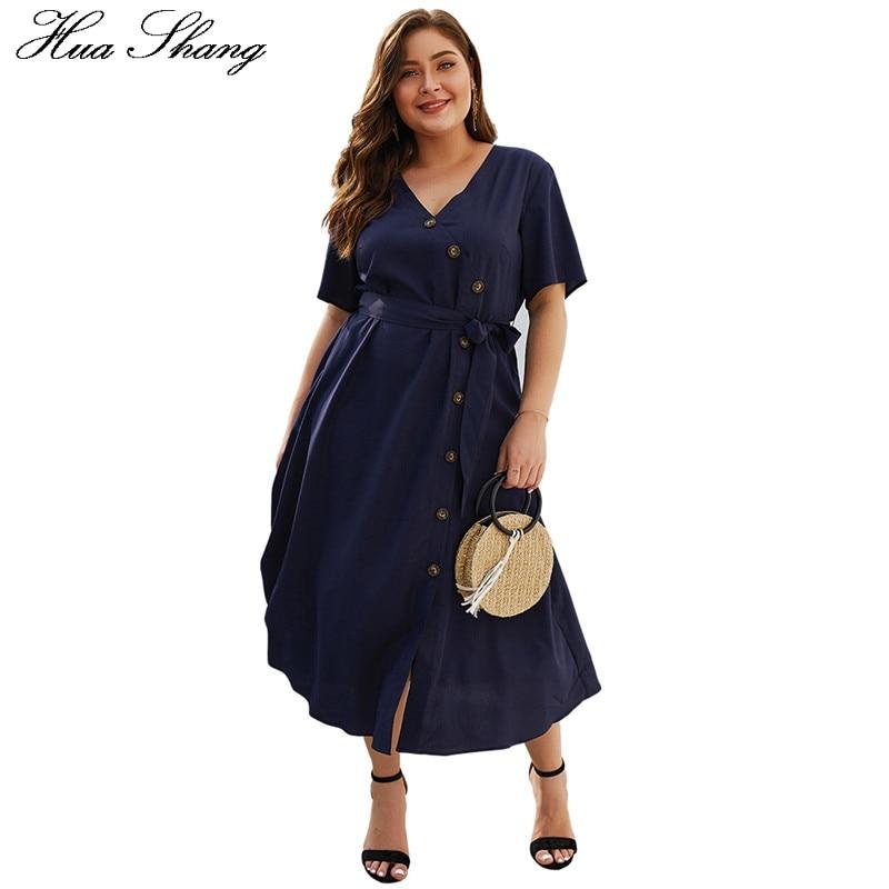 Женское летнее платье с v образным вырезом и коротким рукавом размера плюс, Элегантное Длинное Платье Макси на пуговицах, повседневное элегантное женское платье для вечеринки|Платья|   | АлиЭкспресс