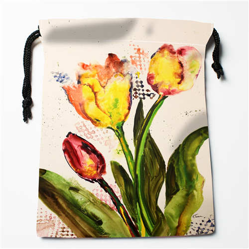 Custom Printing Tulip Kisses (1)Drawstring Shopping Bags Travel Storage Pouch Swim Hiking Toy Bag Unisex  Multi Size18-12-05-92