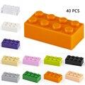 Для выведения токсинов, 40 шт строительные блоки 2x4 горошек толстые цифры блоки, Детские кубики, развивающие творческие Размеры подходит Дру...