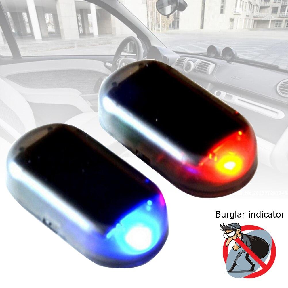 Fake Solar Car Alarm Led Light Safety System AntiTheft Blinking Warning Lamp UK