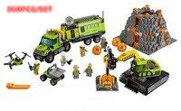 New Volcano Exploration Base Geological Prospecting fit city figures 60124 model Building Block Bricks Toy gift kid boy