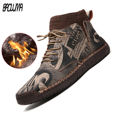 Warm Shoes Platform Womens Boots Chelsea Anti-Skid High-Top Fleece Botas Winter Woman