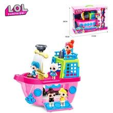 Оригинальный сюрприз ЛОЛ куклы игрушки Дети играют дома игрушки куклы Роскошный круизный корабль с 3 детские игрушки для девочки день рождения подарки