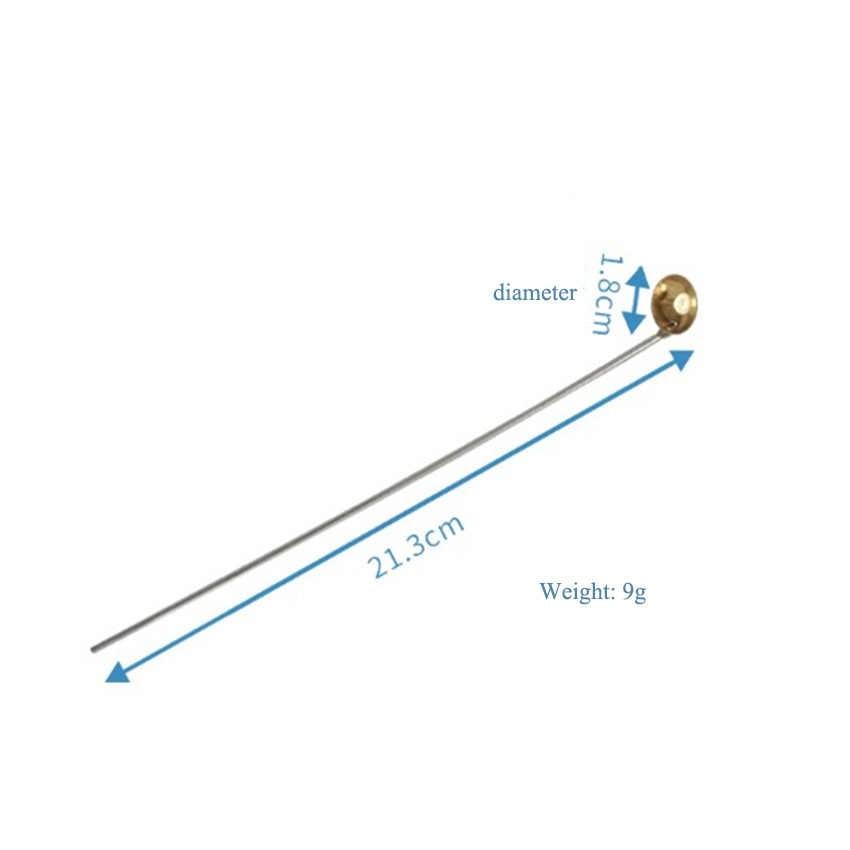 2 ピース/ロット 21.3 センチメートル銅化学燃焼スプーン燃焼スプーンラボ用品化学実験室燃焼スプーンツール