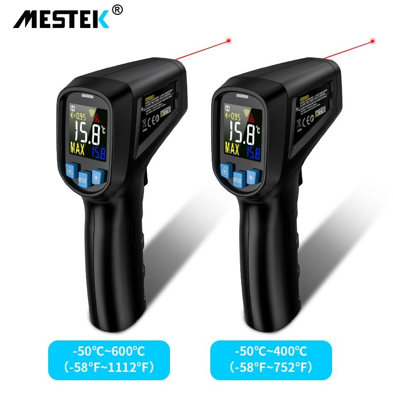 Termômetro infravermelho digital-50 600600c laser medidor de temperatura arma digital lcd industrial ao ar livre pirometer ir termômetro