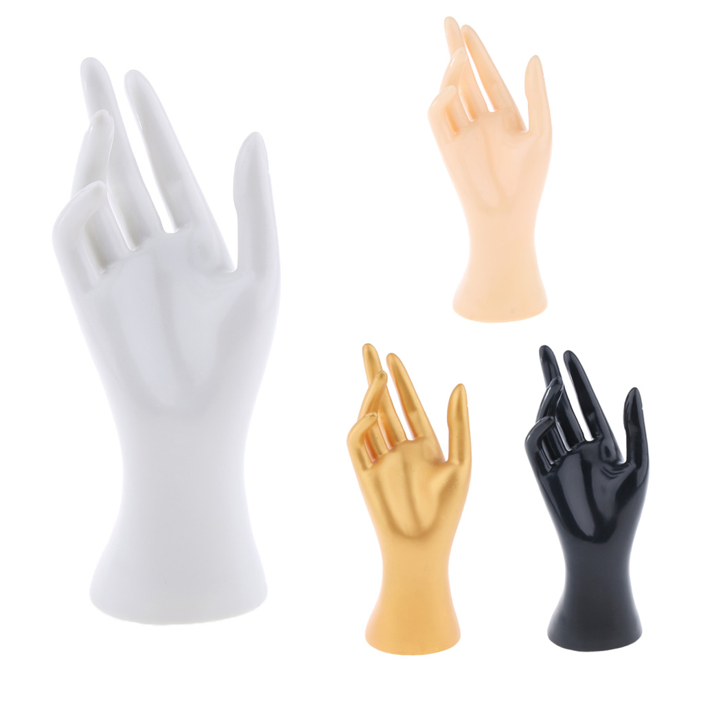 Hand Arm Display Base Female Mannequin Right Hand Jewelry Bracelet Ring Watch Gloves Display 8.5' Jewelry Model Stand Skin Color