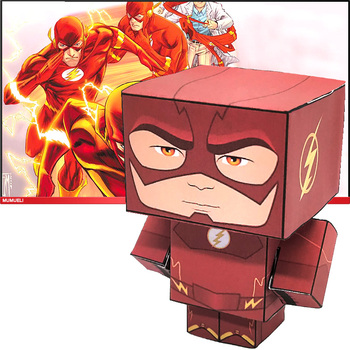 No-glue DC Comics The Flash Folding Cutting Cute 3D Paper Model Papercraft Anime Figure DIY Cubee Kids Adult Craft Toys CS-009 image