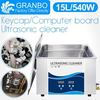 цена на Granbo Key Cap Ultrasonic Cleaner 15L 540W With DEGAS Heating Ultrasonic Bath For Keyboard Computer Board Mother Board PCB Board