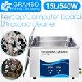 Granbo Key cap Ультразвуковой очиститель 15л 540 Вт с дегазом Отопление ультразвуковая ванна для клавиатуры компьютерная плата Материнская плата б...