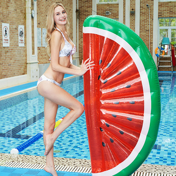 цена на Swimming Pool Inflatable Watermelon Floating Row Watermelon Air Mattress Water Floating Bed Chair Lounge Hammock Water Sport