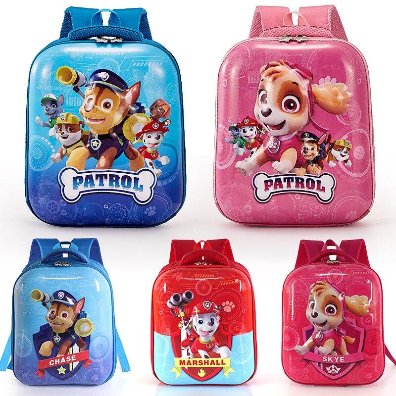 2020 Paw Patrol dog toys Children's School Cute School Bag Cartoon Print Cute Backpack Kindergarten Children's Toy Bag