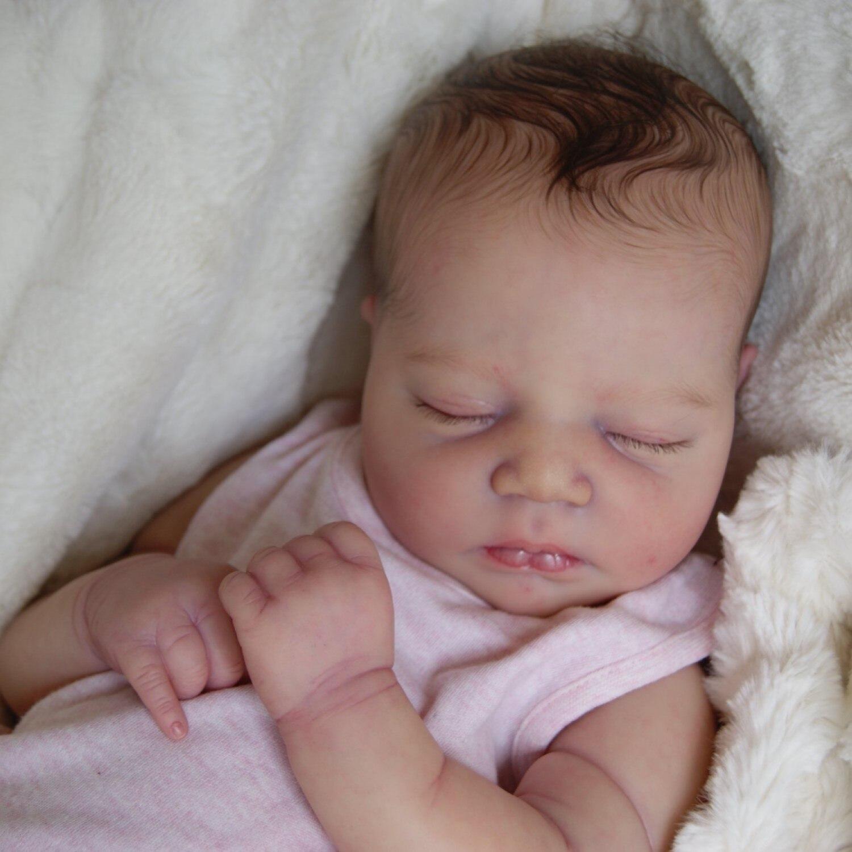 RBG- 19 Zoll Johannah DIY Blank Kits Reborn Baby Lebensechte Vinyl Unlackiert Unfinished Teile der Mutter Tag Geschenke Puppen für Mädchen