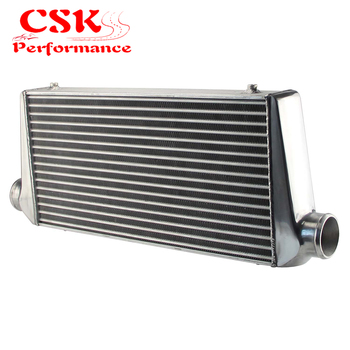 """Aluminum Front Mount Tube-fin Intercooler 600*300*76mm In/outlet 3"""" FMIC"""