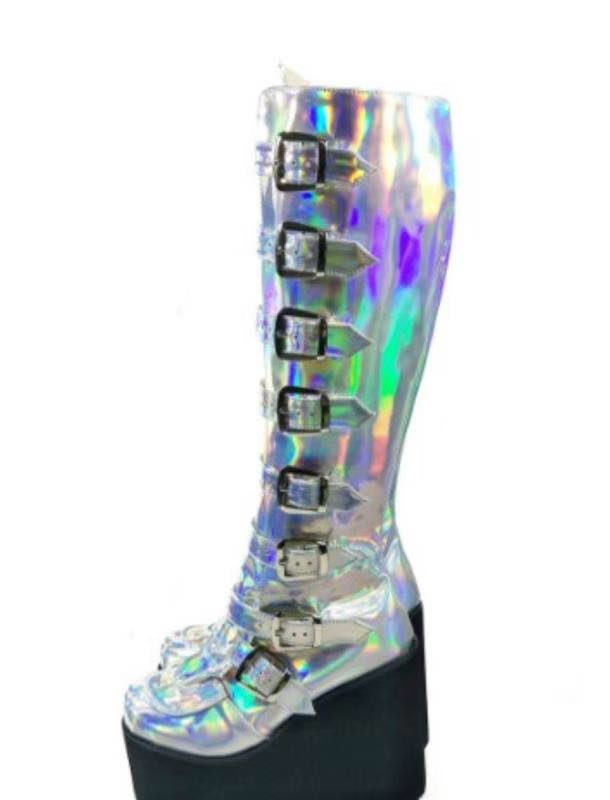 Colorful-High-Platform-Knee-High-Boots-Lolita-Cosplay-Show-Buckle-Strape-Lace-up-Thigh-Boots-Custom-Exclusive-6