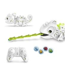 2.4CHz RC робот динозавр игрушки Хамелеон Pet сменный светильник пульт дистанционного управления электронная модель животное Интеллектуальный робот набор игрушек