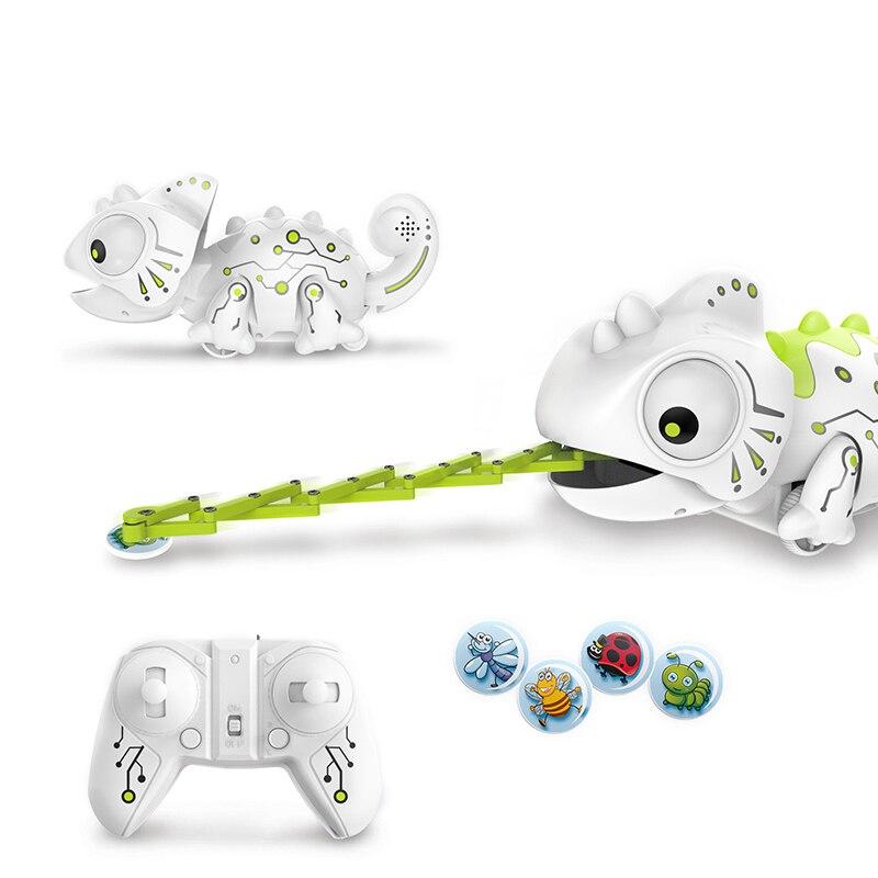 2.4CHz RC Roboter Dinosaurier Spielzeug Chameleon Pet Veränderbar Licht Fernbedienung Elektronische Modell Tier Intelligente Roboter Kit Spielzeug