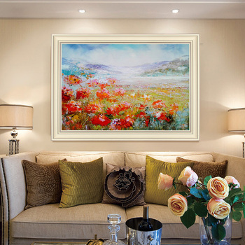 Hand-painted Oil Painting Flowers Decorative Painting The Living Room Modern Minimalist Restaurant Mural Paintings American Cust