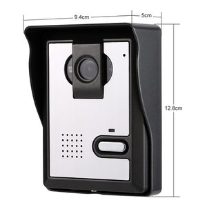 Image 4 - Système de sonnette vidéo, Kit dinterphone vidéo filaire 7 pouces avec surveillance, déverrouillage, interphone double voie pour villa