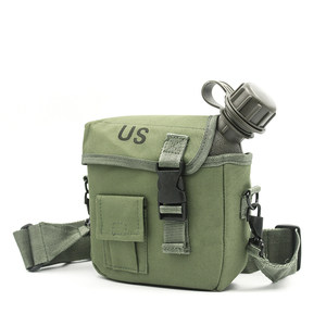 Image 5 - 2L Outdoor Use Camping Hiking Hunting Climbing Tableware Kettle Army Camouflage Drinking Bottle Military Tactical Water Bottles