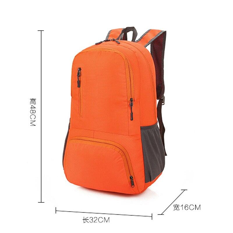 Gift Customization Holds Nylon Backpack Lightweight Folding Backpack Outdoor Mountain Climbing Skin Storgage Bag