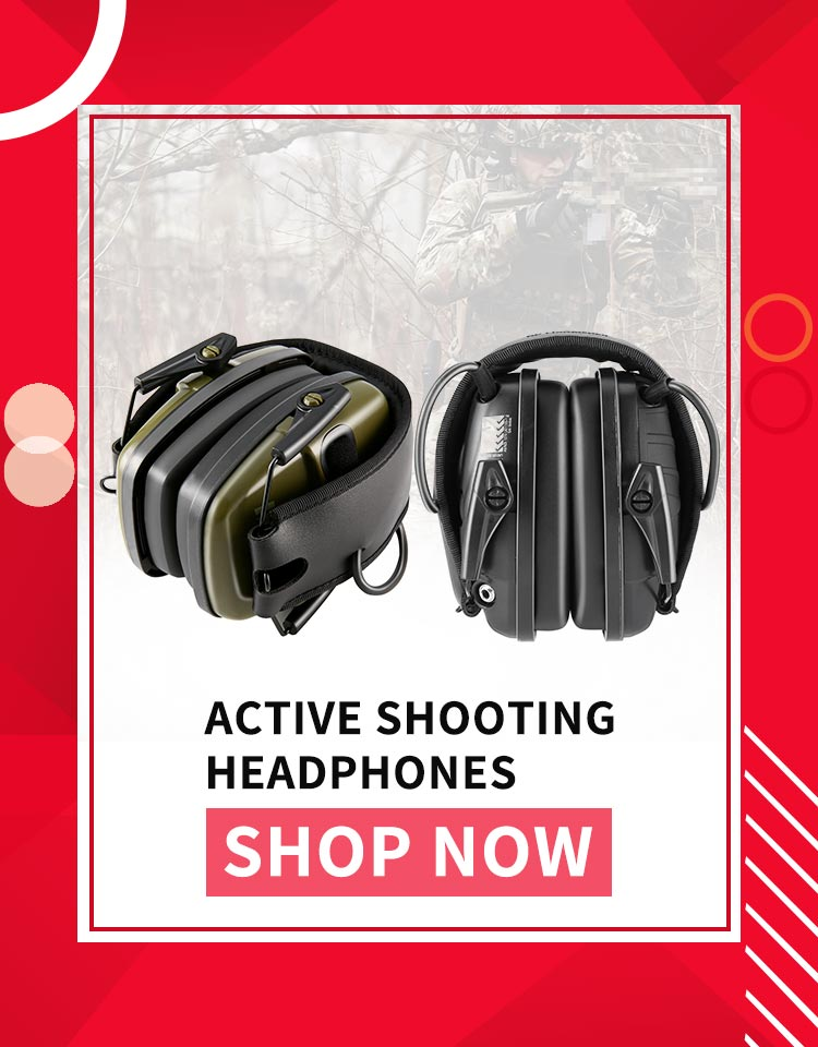 Noise Reduction Electronic Earmuffs NRR 22DB Outdoor Headphone Impact Sound Ear Protection Shooting Ear Muffs Tactical Earplugs