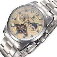 Women Watch Top Brand Luxury AM/PM Moon Phase Automatic Mechanical Skeleton Wristwatch Stainless Steel Band Female Clock(China)