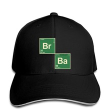 Baseball cap Mens BROMINE (BREaKING) BaRIUM (BaD) Periodic Table Elements in BLaCK Hat Peaked cap(China)
