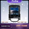 Автомагнитола Kaudiony, мультимедийный проигрыватель 10,4 дюйма в стиле Tesla, Android 10,0, для Opel ASTRA J, автомобильный Dvd-проигрыватель, автомобильный GPS-н...
