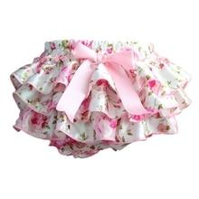 Baby Shorts Baby Clothing Floral Silk Bow satin shorts ruffle diaper cover bloomer baby girls satin panties bloomers