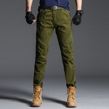 Sports pants Mens outdoor wear-resistant military casual personality overalls 100% cotton straight  sports