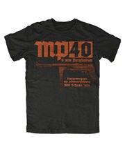 MP40 Высококачественная футболка MP44 мг 42 армейская Короткая Повседневная футболка с круглым вырезом