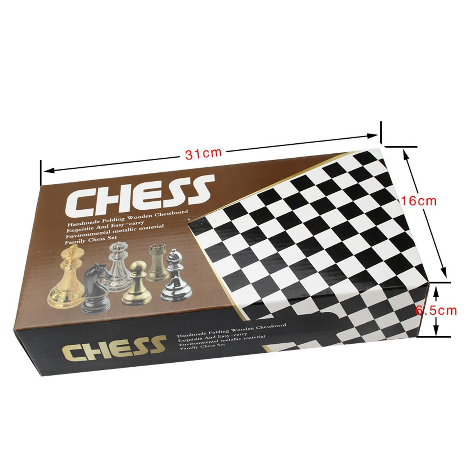 Tablero de ajedrez de Madera y Cuero Vintage Estuche
