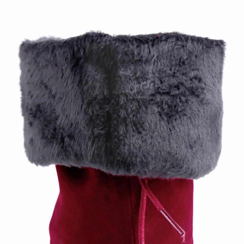 Femmes bottes sur le genou bottes femme daim cuissardes dames Bota femmes chaussures d'hiver à talons hauts bottes longues Botas Mujer