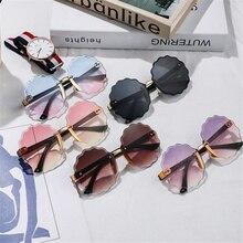 Baby Boys Girls Children's Cute Gradient Sunglasses Anti-uv Love Circle Sunglasses Outdoor Beach Photography Travel Universal