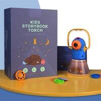 Baby Story Projection Night Light Multi Function Table Desk Lamp Kid Toy Portable Star Moon Lampara Children Gift Sleep Lamp Kid