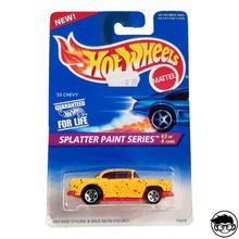Hot Wheels '55 Chevy Splater краска Серия#410 1996 длинная карта