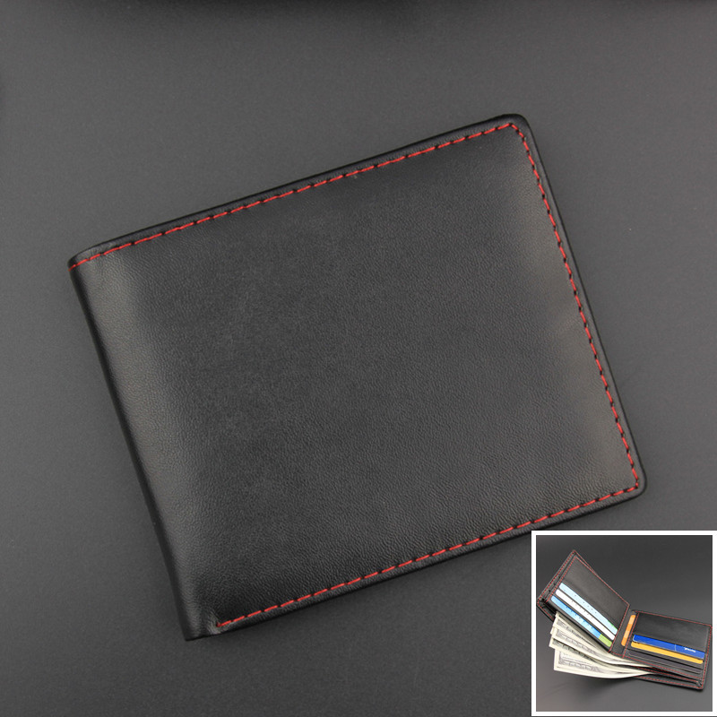Fashion Business Men PU Leather Wallet ID Credit Card Pockets Cash Holder