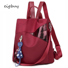 Girl teen backpack Korean style student Zipper Solid Pu Lock Pink Fashion school bags for teenagers mochila travel bookbag