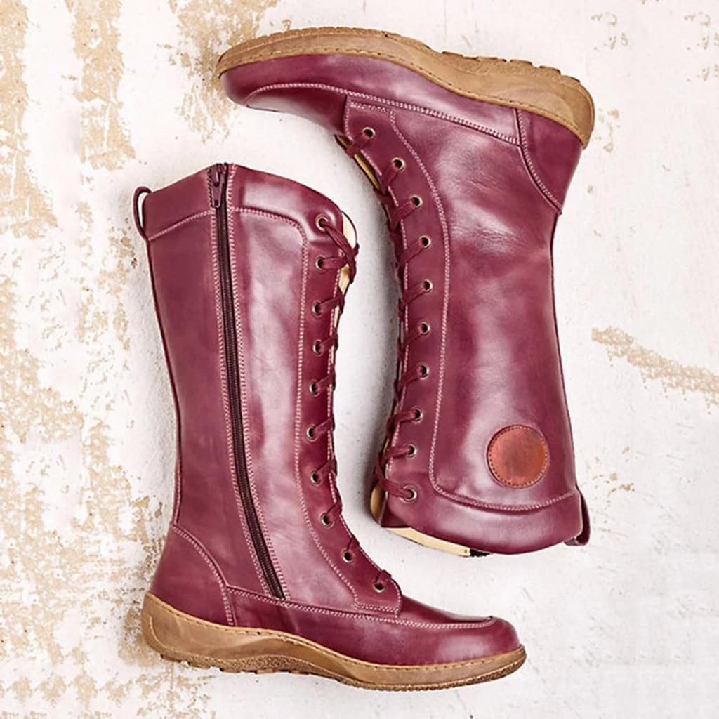Retro Women's Western Boots Winter Long
