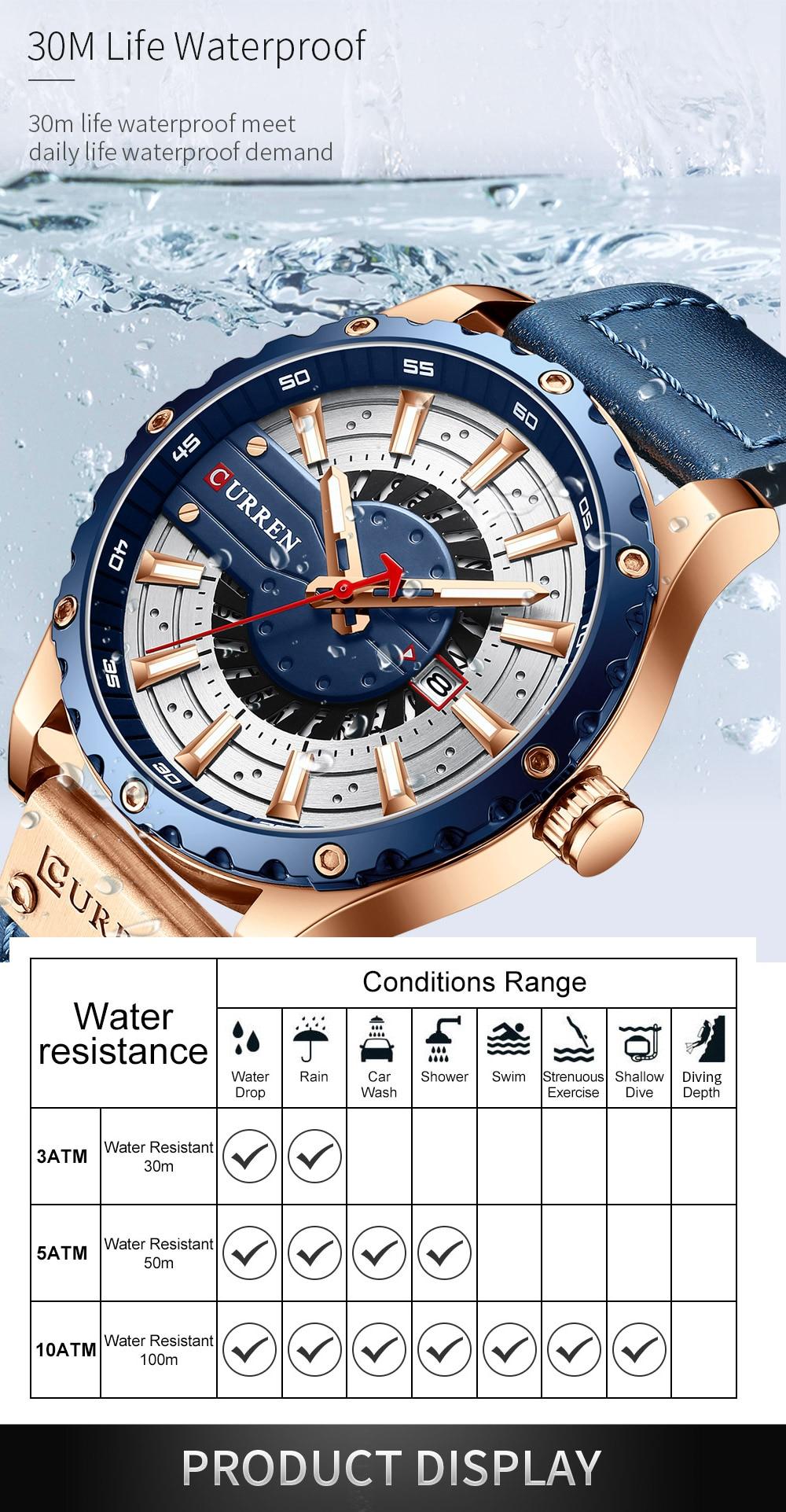 H3a40f4420fb04a5386f5f902174b2bebG CURREN Watch Wristwatch  New Chic Luminous hands