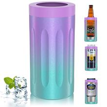 Can-Cooler for 12OZ Non-Slip Insulated Double-Walled Stainless-Steel Cover Vacuum Beer