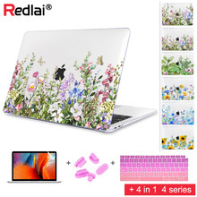 Floral Printing Plastic Hard Case Shell For MacBook Air Pro 15 13 2018 A1932 A1989 A1990 Touch bar Retina Laptop