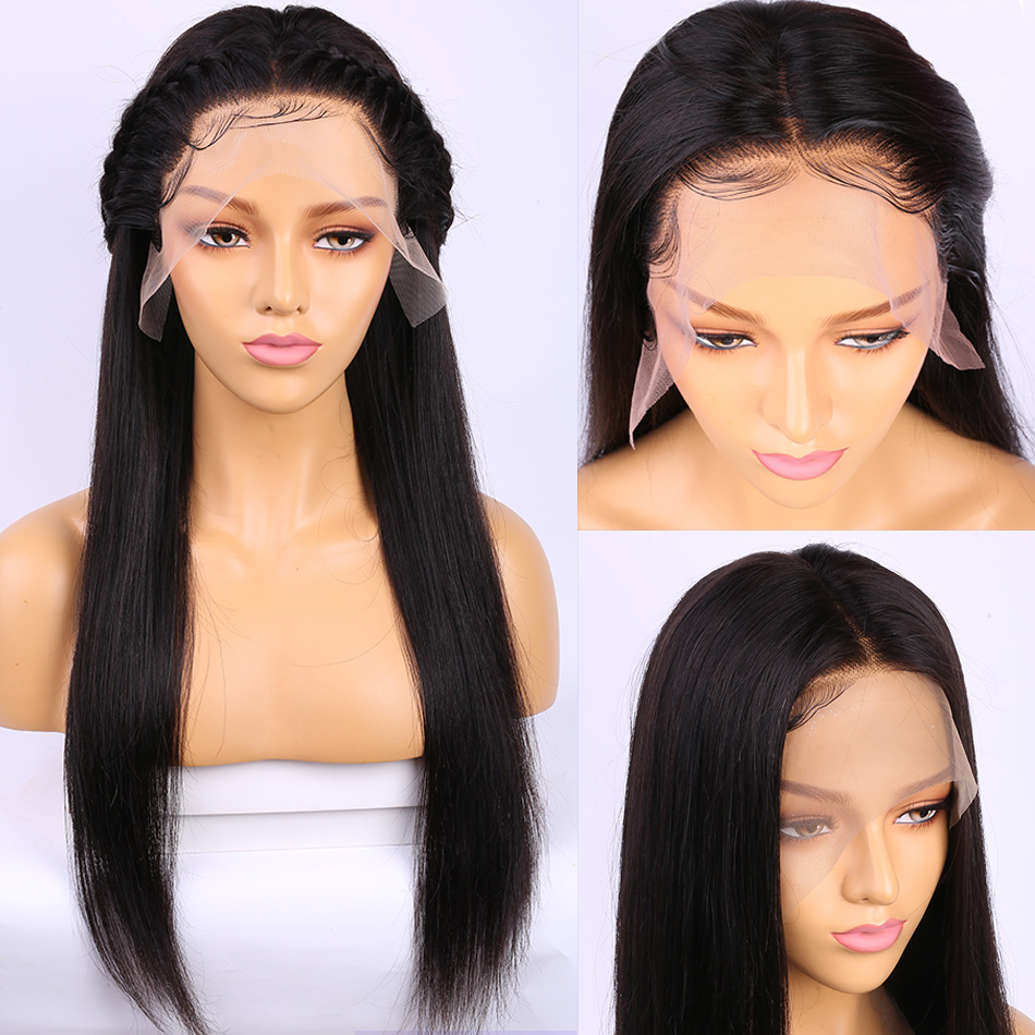 Alibele Straight Lace Front Human Hair Wigs 10-24 Inch Short Long 13x4 Lace Frontal Wig 150% Peruvian Hair Wig For Black Women