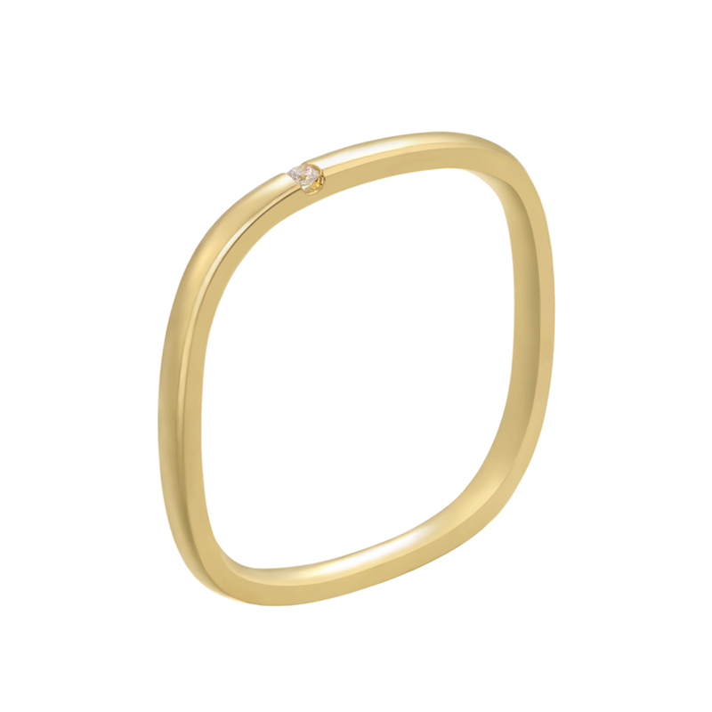 ZHUKOU 2021 şık yüzükler kadınlar için altın/gümüş renk kristal yaratıcı küp alyans kadınlar için/erkek moda takı yüzük VJ57